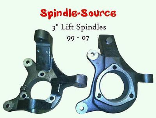 "2000 - 2006 GMC Yukon, Yukon XL 2WD 3"" Lift Spindles Knuckles 3 in 00 - 06"