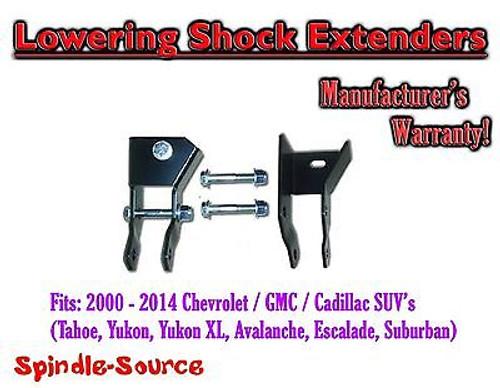 2000 - 2014 Chevy GMC SUV Suburban Tahoe + MORE Rear Lowering Shock Extenders