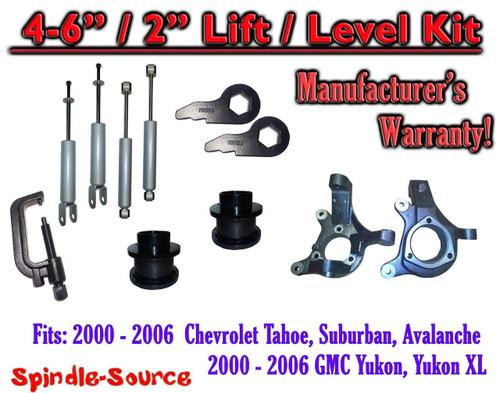 "2000- 2006 Chevrolet GMC 1500 4""-6"" / 2"" Lift Kit Spindles Spacer TOOL + SHOCKS"