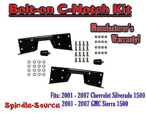 2001 - 07 Chevy Silverado GMC Sierra C-NOTCH for use with flip lowering drop kit