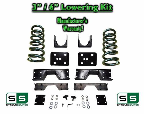 "2002 - 08 Dodge Ram 1500 V8 3"" / 6"" Lowering Drop Kit 2WD Coils Flip + C-NOTCH"