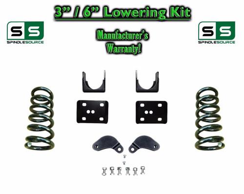 """2002 - 08 Dodge Ram 1500 V6 3"""" / 6"""" Lowering Drop Kit 2WD Coils Flip, Shock Ext."""