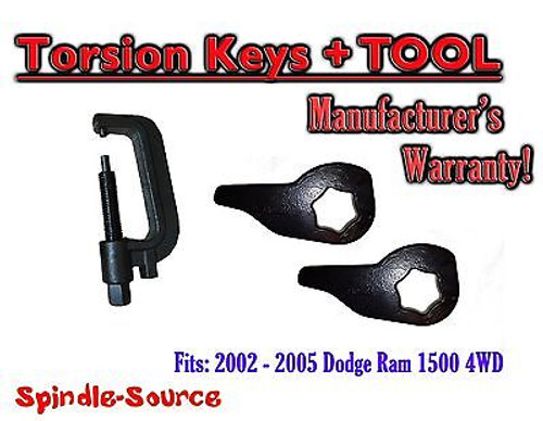 """2002 - 2005 Dodge RAM 1500 4x4 4WD 1"""" - 3"""" Torsion Lift / Leveling Keys + TOOL"""