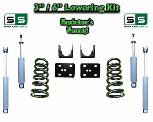 """2002 - 2008 Dodge Ram 1500 V6 3"""" / 6"""" Lowering Drop Kit 2WD Coils Flip + SHOCKS"""