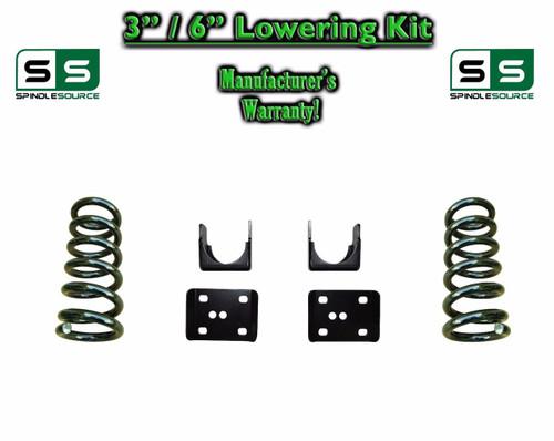 "2002 - 2008 Dodge Ram 1500 V8 3"" / 6"" Lowering Drop Kit 2WD Coils Flip Kit"