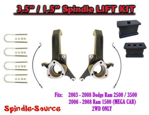 """2003 - 2008 Dodge Ram 2500 3500 (1500 MEGA CAB) 2WD 3.5"""" / 1.5"""" LIFT KIT UBH"""