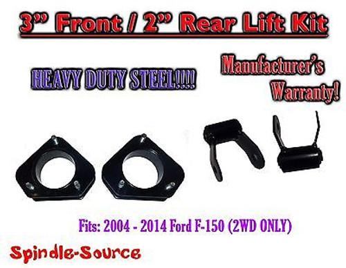 """2004 - 14 Ford F150 F-150 Mark LT 3"""" Lift Strut Spacer + 2"""" Shackle Kit 3"""" / 2"""""""