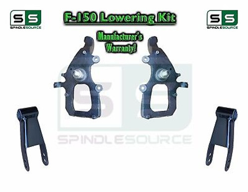 """2004 - 2008 Ford F-150 2WD 2"""" / 3"""" Drop Lowering Kit Spindles Shackles 04-08"""