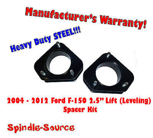 """2004 - 2012 Ford F-150 Lincoln Mark LT 2.5"""" in Leveling Lifting Strut Spacer Kit"""