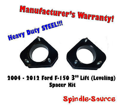"""2004 - 2012 Ford F-150 Lincoln Mark LT 3"""" in Leveling Lifting Strut Spacer Kit"""