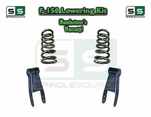 "2004 - 2014 Ford F-150 F150 3"" / 3"" Drop Lowering Kit Coils Shackles 3"" Drop Kit"