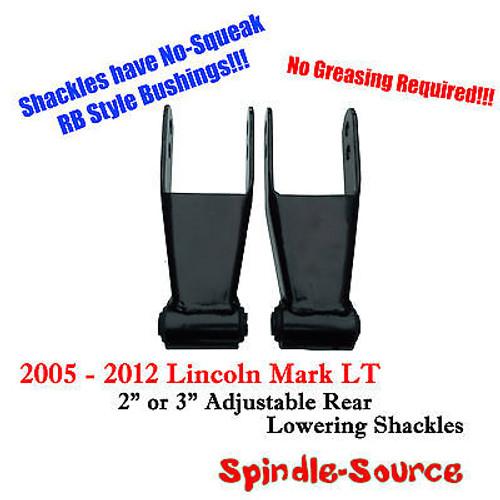"2005 - 2012 Lincoln Mark LT 2"" 3"" Drop Lowering Shackles SET RB Silent Bushings"
