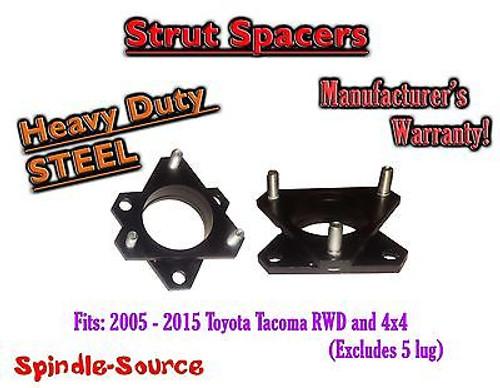 "2005 - 2015 Toyota Tacoma / 07+ FJ Cruiser 2.5"" Strut Lift Level Spacer STEEL"