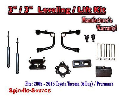 "2005 - 2016 Toyota Tacoma 3"" / 3"" Lift Kit + TUBULAR Upper Arms UCA + SHOCKS"