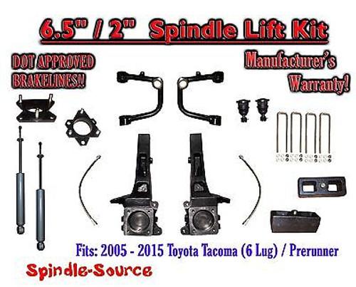 "2005 - 2016 Toyota Tacoma Prerunner 6.5"" / 2"" Lift Kit Spindles, SHOCKS + UCA"