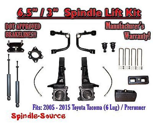 "2005 - 2016 Toyota Tacoma Prerunner 6.5"" / 3"" Lift Kit Spindles, SHOCKS + UCA"