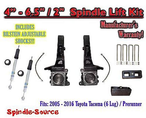 """2005 - 2016 Toyota Tacoma Prerunner 4 - 6.5"""" / 2"""" LIFT Kit, Bilstein 5100 Shocks"""