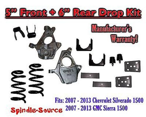 "2007 - 13 Chevrolet Silverado / GMC Sierra 1500 V8 5"" / 6"" Lowering Drop kit"