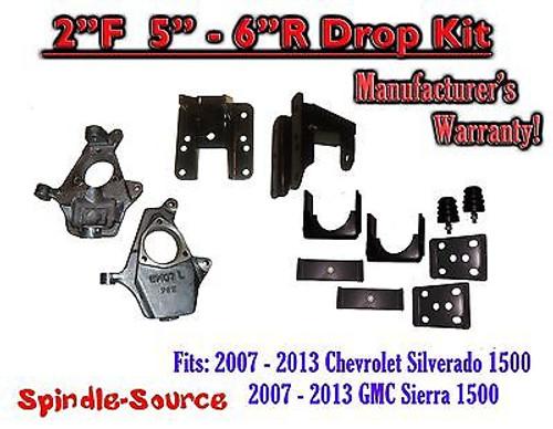 "2007 - 13 Chevy Silverado GMC Sierra 1500 2/5"" or 2/6"" DROP KIT Flip Coil Hanger"