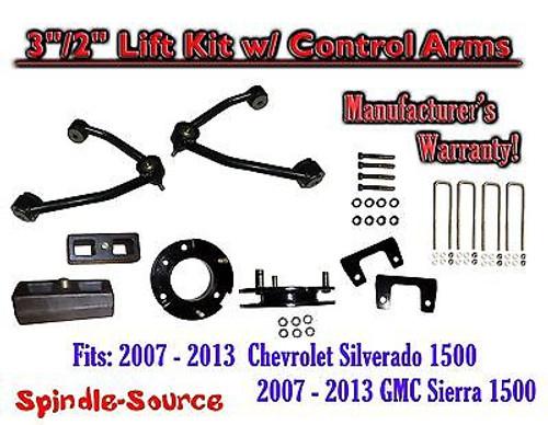 "2007 - 13 Chevy Silverado GMC Sierra 1500 3"" inch / 2"" CONTROL ARM LIFT KIT"