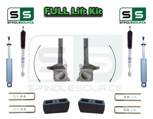 "2007 - 16 Toyota Tundra Bilstein Adjust. 4.37"" to 5.78"" / 3"" Lift Kit + Shocks"