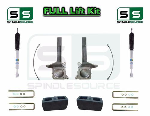 """2007 - 16 Toyota Tundra Bilstein Adjust. 4.37"""" to 5.78"""" Front / 4"""" Rear Lift Kit"""