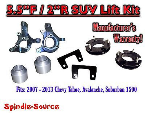 """2007 - 2013 Chevy Suburban Tahoe Avalanche 1500 5.5"""" / 2"""" Lift Kit Spindle 07-13"""