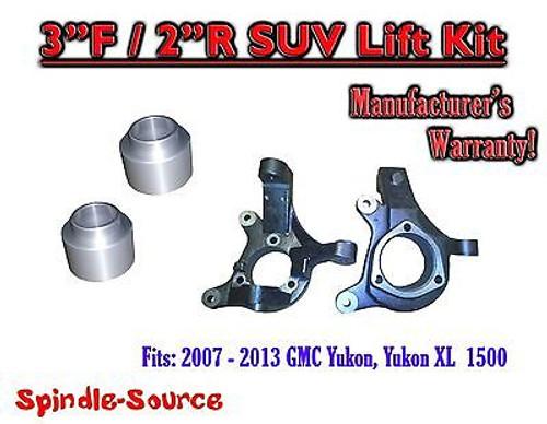 """2007 - 2013 GMC Yukon Yukon XL 1500 2WD 3"""" / 2"""" Lift Kit Spindle + Rear Spacer"""