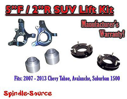 """2007 - 2013 Chevy Suburban Tahoe Avalanche 1500 5"""" / 2"""" Lift Kit Spindle 07-13"""