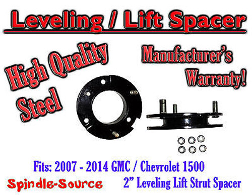 """2007 - 2014 Chevy GMC Trucks and SUVs 2"""" Lifting Leveling Strut Spacer STEEL!"""