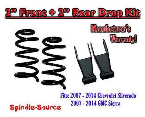 "2007 - 2013 Chevrolet Silverado / GMC Sierra 1500 V6 2"" / 2"" Lowering Drop kit"