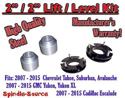 """2007 - 2015 Chevrolet Tahoe GMC Yukon 1500 SUV 2"""" FULL LIFT KIT / LEVEL Chevy"""