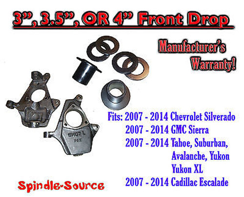 """2007 - 2016 Chevy / GMC Trucks and SUVs Adjustable 3"""" 3.5"""" or 4 INCH FRONT DROP"""
