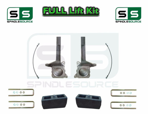 2007 - 2016 Toyota Tundra 3.5 / 3 in Spindle Block Lift Kit 2WD DOT Brake Lines