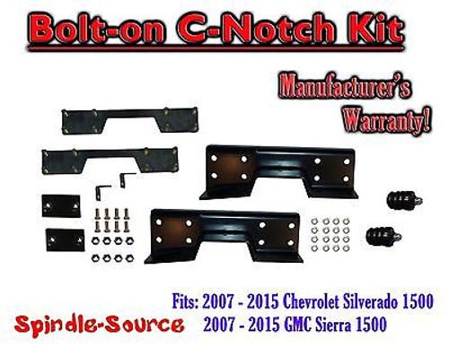 2007 - 2018 Chevrolet Silverado GMC Sierra 1500 C-NOTCH for lowering drop kits