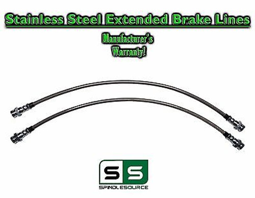 2007 - 2016 Toyota Tundra Stainless Extended Length FRONT Brake Lines for LIFT
