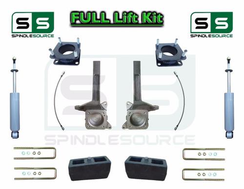 "2007 - 2016 Toyota Tundra 6"" / 3 inch Spindle Block Lift Kit 2WD + REAR SHOCKS"