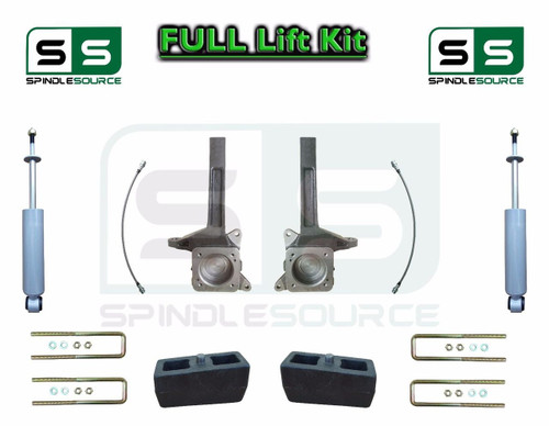 2007 - 2016 Toyota Tundra 3.5 / 3 inch Spindle Block Lift Kit 2WD + REAR SHOCKS