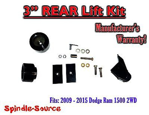 "2009 - 2016 Dodge Ram 1500 3"" REAR Spacer LIFT KIT (2wd ONLY) w/ Panhard Bracket"