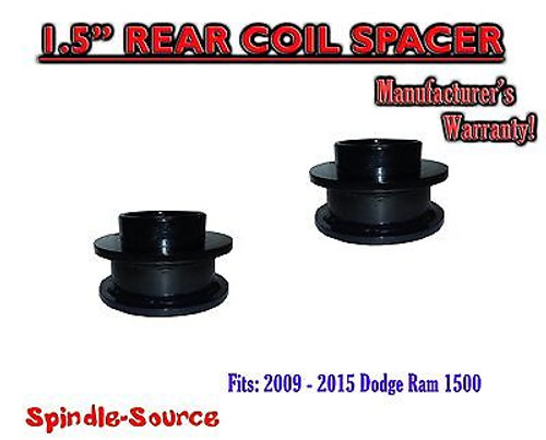 """2009 - 2017 Dodge Ram 1500 REAR 1.5"""" inch FABRICATED STEEL Coil Spacer Leveling"""
