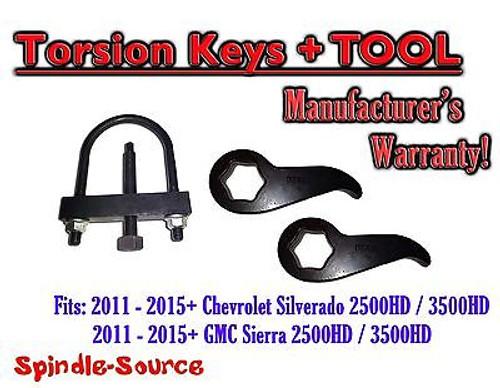 "2011-15 Chevy Silverado GMC Sierra 2500HD 3500HD 1""-3"" Torsion LIFT KEYS + TOOL"