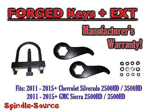 """2011-15 Chevy Silverado Sierra 2500 3500 HD 1 -3"""" Torsion LIFT KEYS EXT + TOOL"""