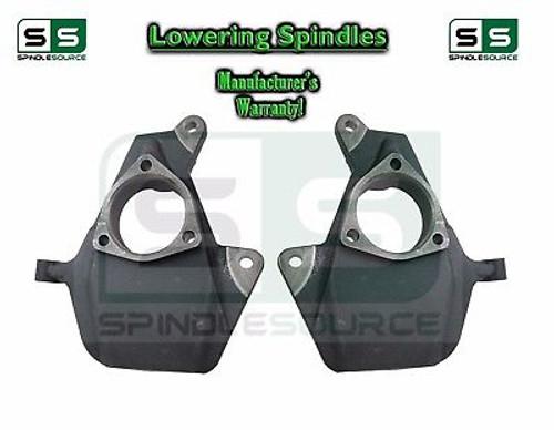 """2014 - 2017+ GMC Sierra 1500 2WD 4WD 2"""" Drop Lowering Spindles STAMPED /ALUM"""