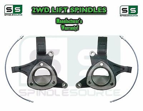 """2014 - 2017+ Cadillac Escalade 2WD 5"""" Lift Spindles + Brake Lines STAMPED / ALUM"""