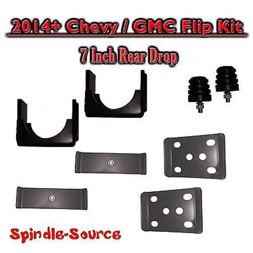 "2014 - 2018 Chevrolet Chevy Silverado / GMC Sierra 1500 7"" REAR Flip Kit 2WD 4WD Truck"