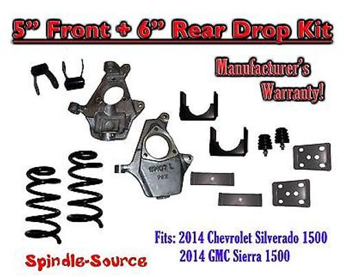 "2014-16 Chevrolet Chevy Silverado / GMC Sierra 1500 V8 5"" / 6"" Lowering Drop kit"