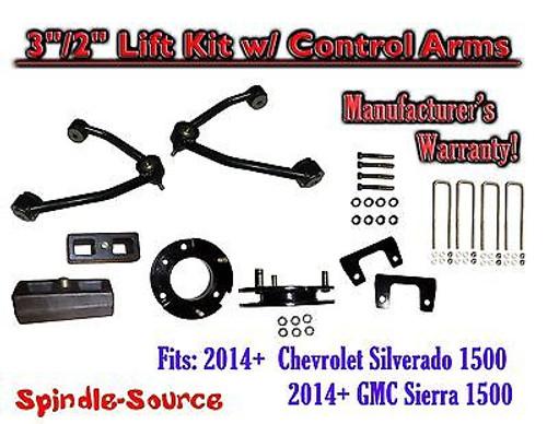 "2014+ Chevrolet Silverado GMC Sierra 1500 3"" inch / 2"" CONTROL ARM LIFT KIT"