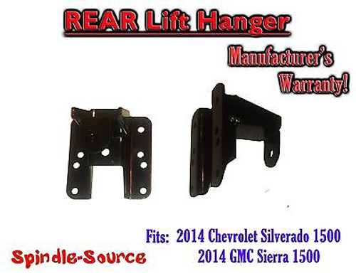 "2014+ Chevy Silverado GMC Sierra 1500 1"" - 2"" Rear Lift Hanger for Flip Kits"