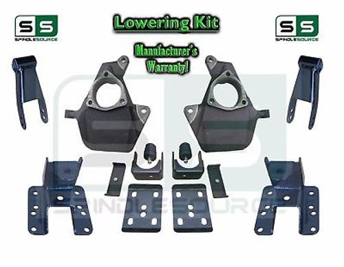 """16-18 Silverado Sierra 2"""" / 4"""" Drop Lowering Spindle KIT STAMPED / ALUM ARMS 2/4"""