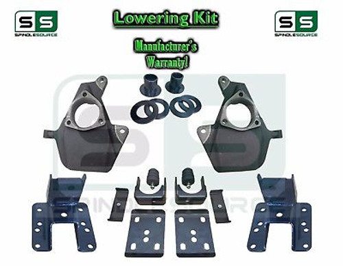 """16-18 Silverado Sierra 3"""" / 5"""" Drop Lowering Spindle KIT STAMPED / ALUM ARMS 3/5"""